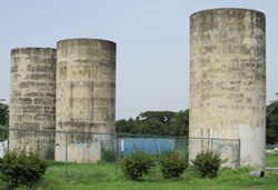 Three Concrete Silos